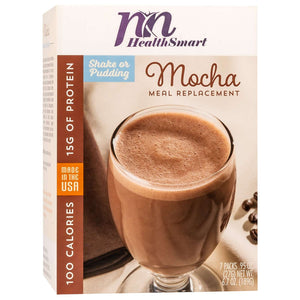HealthSmart 100 Calorie Meal Replacement - Mocha - 7/Box-Nashua Nutrition