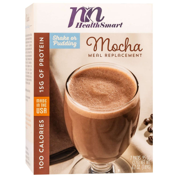 HealthSmart 100 Calorie Meal Replacement - Mocha - 7/Box
