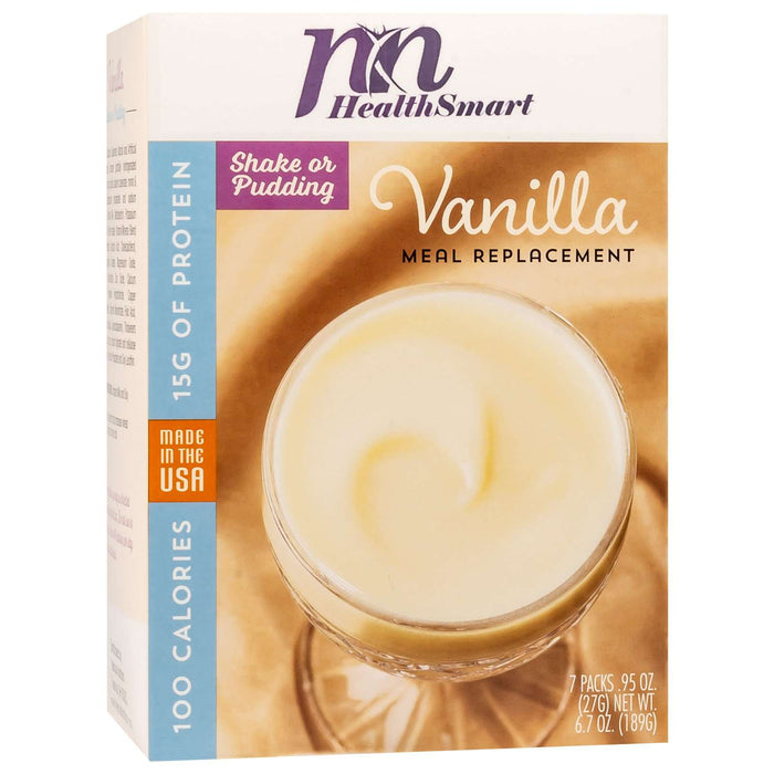 HealthSmart 100 Calorie Meal Replacement Vanilla, 7 Servings