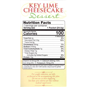 HealthSmart Dessert - Key Lime Cheesecake - 7/Box
