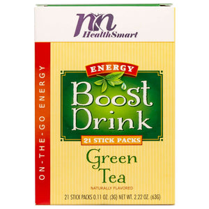 HealthSmart Energy Boost Drink Mix - Green Tea - 21 Packets/Box-Nashua Nutrition