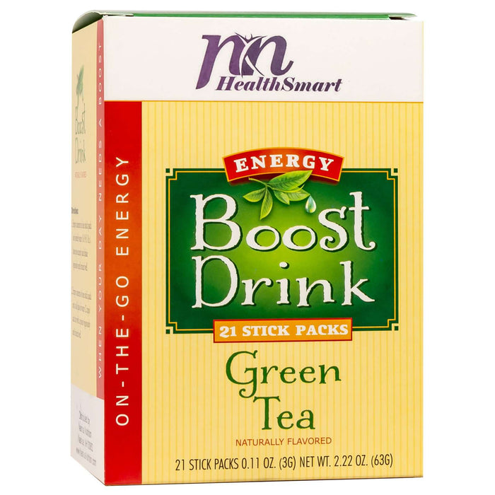 HealthSmart Energy Boost Drink Mix - Green Tea - 21 Packets/Box