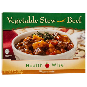 HealthSmart Entree - Vegetable Stew with Beef - 1 Dinner - Nashua Nutrition