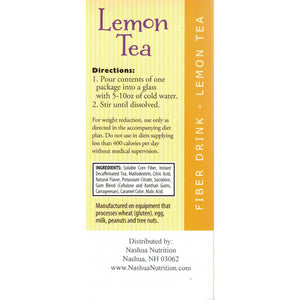 HealthSmart FIBERight - Lemon Tea - 10/Box-Nashua Nutrition