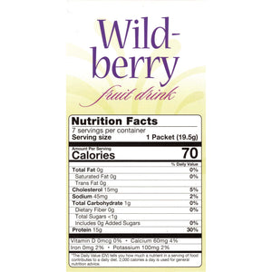 HealthSmart Fruit Drink - Wild Berry - 7/Box-Nashua Nutrition
