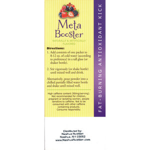 HealthSmart Meta Booster Drink Mix - Berry - 14 Packets/Box-Nashua Nutrition