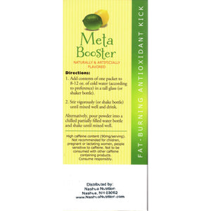 HealthSmart Meta Booster Drink Mix - Lemon Lime - 14 Packets/Box-Nashua Nutrition