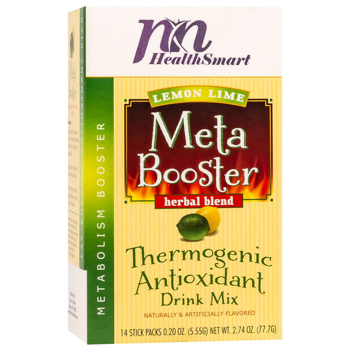 HealthSmart Meta Booster Drink Mix - Lemon Lime - 14 Packets/Box