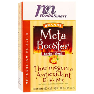 HealthSmart Meta Booster Drink Mix - Orange - 14 Packets/Box