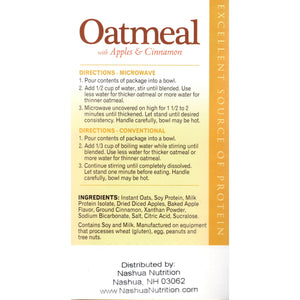HealthSmart Oatmeal - Apples & Cinnamon - 7/Box-Nashua Nutrition