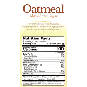 HealthSmart Oatmeal - Maple Brown Sugar - 7/Box-Nashua Nutrition