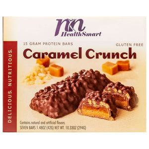 HealthSmart Protein Bar - Caramel Crunch - 7/box-Nashua Nutrition