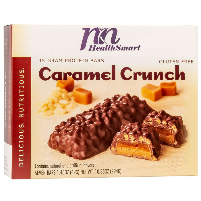 HealthSmart Protein Bars - Caramel Crunch, 7 Bars/Box