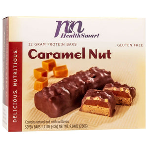 HealthSmart Protein Bars - Caramel Nut, 7 Bars/Box - Nashua Nutrition