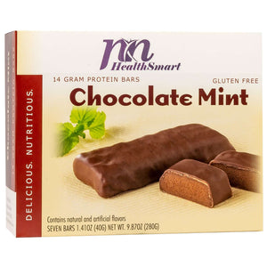 HealthSmart Protein Bars - Chocolate Mint, 7 Bars/Box - Nashua Nutrition