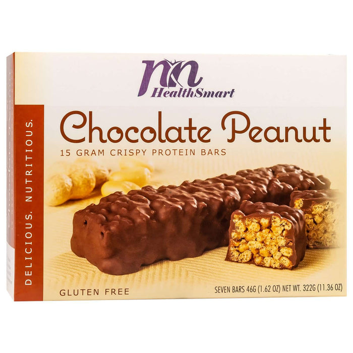 HealthSmart Protein Bars - Chocolate Peanut, 7 Bars/Box