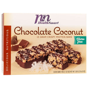 HealthSmart Protein Bars - Crispy Chocolate Coconut, 7 Bars/Box - Nashua Nutrition