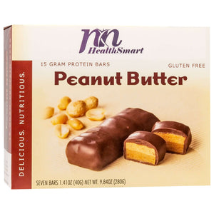 HealthSmart Protein Bars - Peanut Butter, 7 Bars/Box - Nashua Nutrition