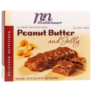 HealthSmart Protein Bars - Smooth Peanut Butter & Jelly, 7 Bars/Box - Nashua Nutrition