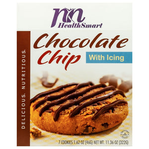 HealthSmart Protein Cookie - Chocolate Chip with Icing (7/Box)-Nashua Nutrition