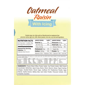 HealthSmart Protein Cookie - Oatmeal Raisin with Icing (7/Box)-Nashua Nutrition