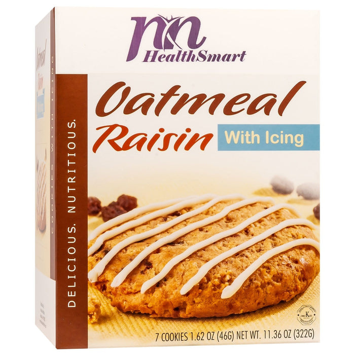 HealthSmart Protein Cookie - Oatmeal Raisin with Icing (7/Box)