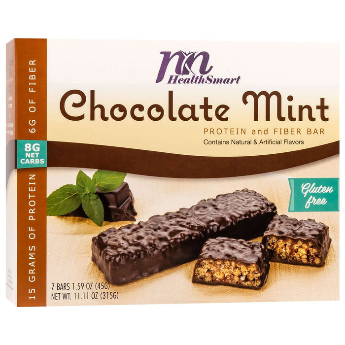 HealthSmart Protein & Fiber Divine Bars - Chocolate Mint Crisp, 7 Bars/Box