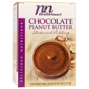 HealthSmart Pudding & Shake - Chocolate Peanut Butter - 7/Box - Nashua Nutrition