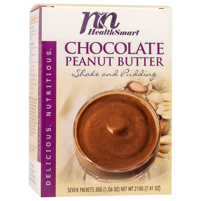 HealthSmart Pudding & Shake - Chocolate Peanut Butter - 7/Box