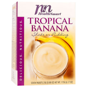HealthSmart Pudding & Shake - Tropical Banana - 7/Box - Nashua Nutrition