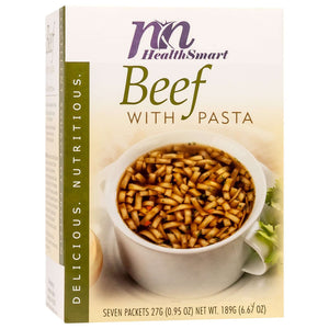 HealthSmart Soup - Beef with Pasta - 7/Box-Nashua Nutrition
