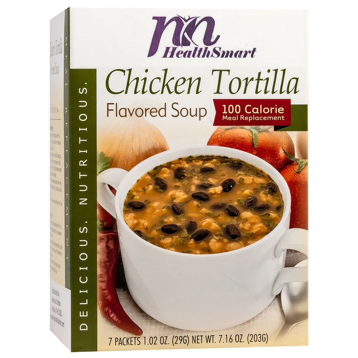 HealthSmart Soup - Chicken Tortilla - 100 Calorie Meal Replacement - 7/Box