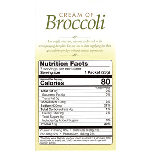 HealthSmart Soup - Cream of Broccoli - 7/Box - Nashua Nutrition