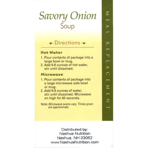 HealthSmart Soup - Savory Onion - 100 Calorie Meal Replacement - 7/Box-Nashua Nutrition