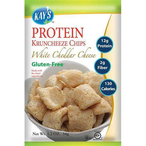 Kay's Naturals - Protein Kruncheeze Chips - White Cheddar Cheese (1 Bag)-Nashua Nutrition