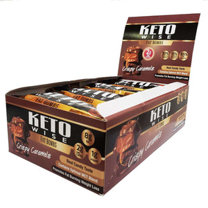 Keto Wise - ChocoRite - Fat Bombs - Chocolate Crispy Caramels - 16/Box - Nashua Nutrition