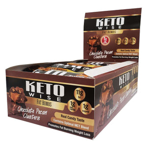 Keto Wise - ChocoRite - Fat Bombs - Chocolate Pecan Clusters - 16/Box-Nashua Nutrition