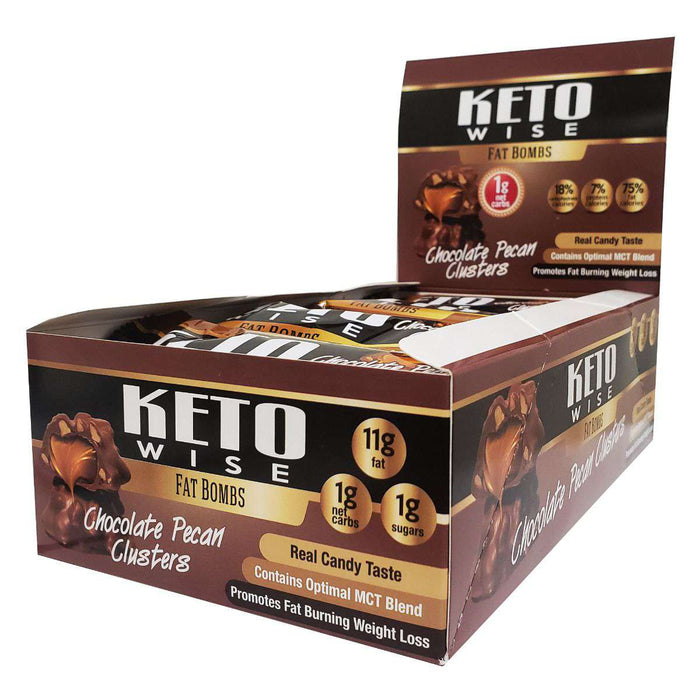 Keto Wise - ChocoRite - Fat Bombs - Chocolate Pecan Clusters - 16/Box