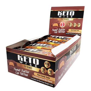 Keto Wise - ChocoRite - Fat Bombs - Peanut Butter Cup Patties - 16/Box - Nashua Nutrition