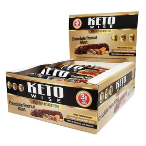 Keto Wise - ChocoRite - Meal Replacement Bar - Chocolate Peanut Blast - 12/Box-Nashua Nutrition