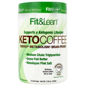 MHP - Fit & Lean - Keto Coffee - Medium Roast Blend - 15 Servings - Nashua Nutrition