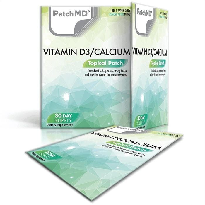 PatchMD - Vitamin D3 & Calcium Topical Patch - (30-Day Supply)