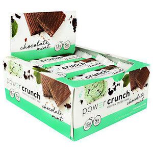 Power Crunch - Protein Wafer Bars - Chocolate Mint (1 Bar or 12/Box)-Nashua Nutrition