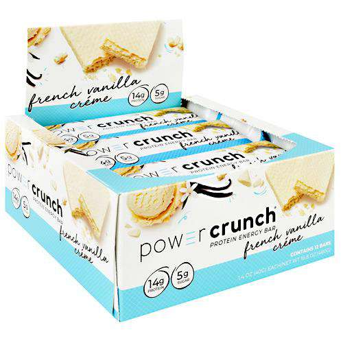 Power Crunch - Protein Wafer Bars - French Vanilla Creme (1 Bar or 12/Box)