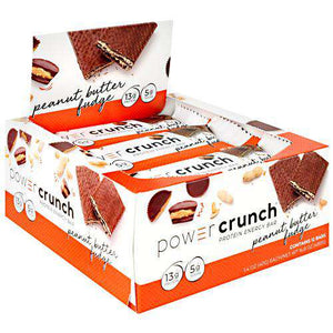 Power Crunch - Protein Wafer Bars - Peanut Butter Fudge (1 Bar or 12/Box)-Nashua Nutrition