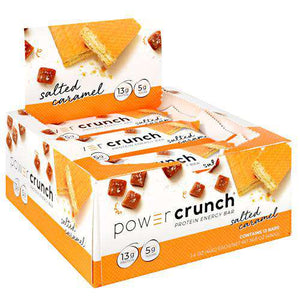 Power Crunch - Protein Wafer Bars - Salted Caramel (1 Bar or 12/Box)-Nashua Nutrition