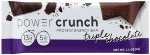 Power Crunch - Protein Wafer Bars - Triple Chocolate (1 Bar or 12/Box)-Nashua Nutrition