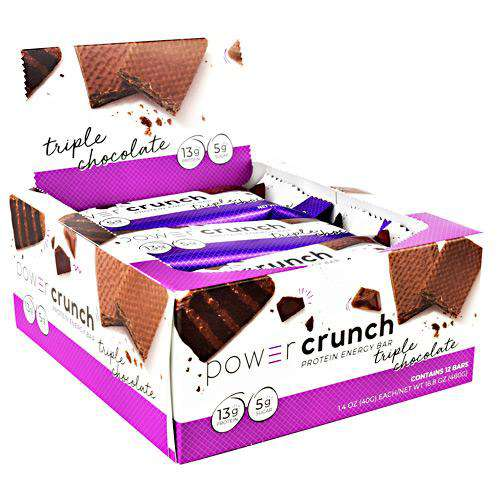 Power Crunch - Protein Wafer Bars - Triple Chocolate (1 Bar or 12/Box)