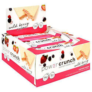 Power Crunch - Protein Wafer Bars - Wild Berry Creme (1 Bar or 12/Box)-Nashua Nutrition
