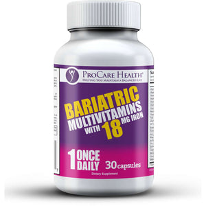 ProCare Health - Bariatric Multivitamin Capsule - 18mg Iron - 1 Once Daily - 30ct Bottle-Nashua Nutrition